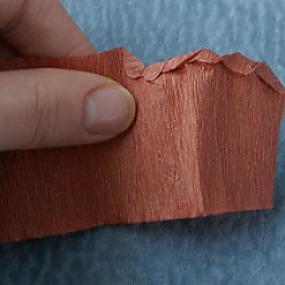 Как сделать шишку из гофрированной бумаги своими
