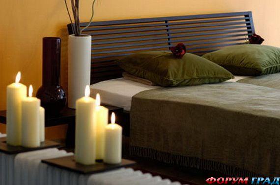 Свечи в спальне