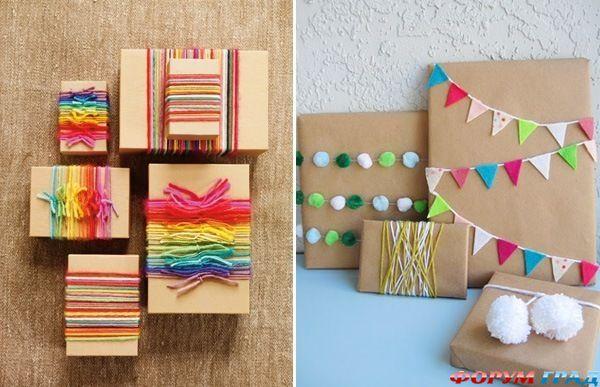 Как красиво украсить коробочку для подарка