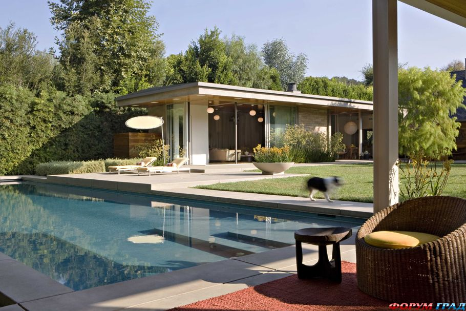 Архитектура Америки: впечатляющий коттедж Brentwood в Калифорнии