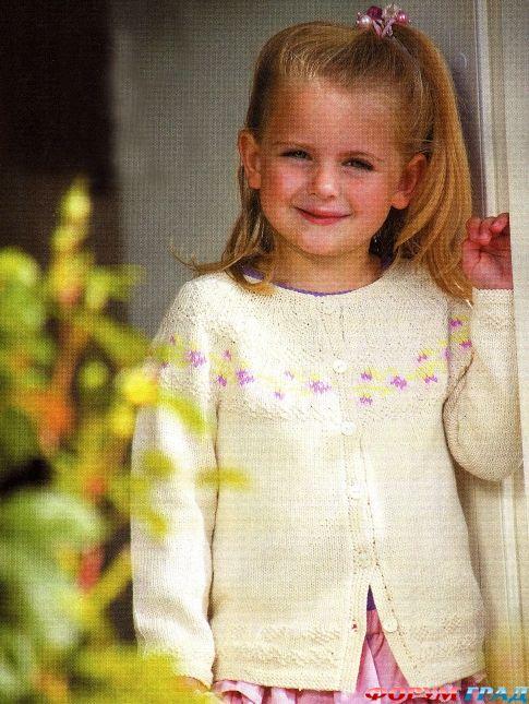 Косынка для девочки крючком фото схема