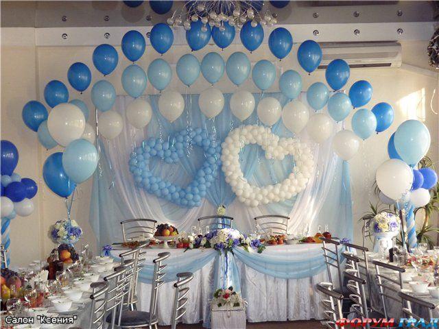 Украсить зал шарами своими руками фото 737
