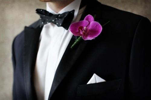Цветы для жениха на пиджак