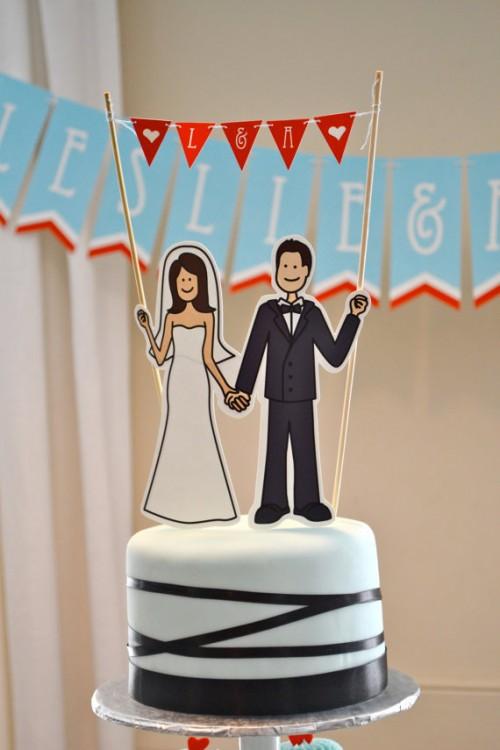 Свадебный топпер для торта своими руками