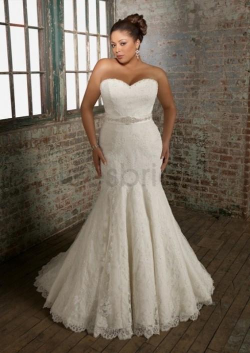 Свадебное платье на пышную фигуру