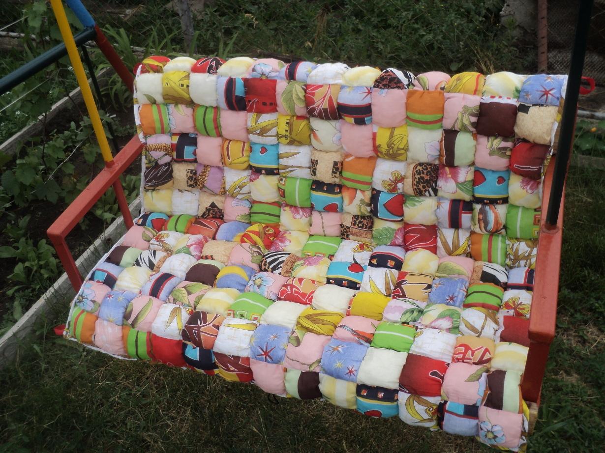 Подушка для сада своими руками