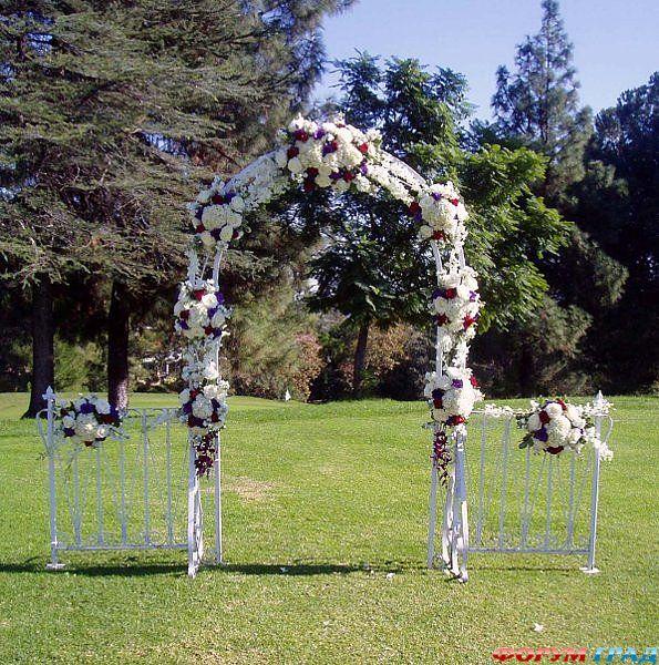 Садовая арка своими руками из метала