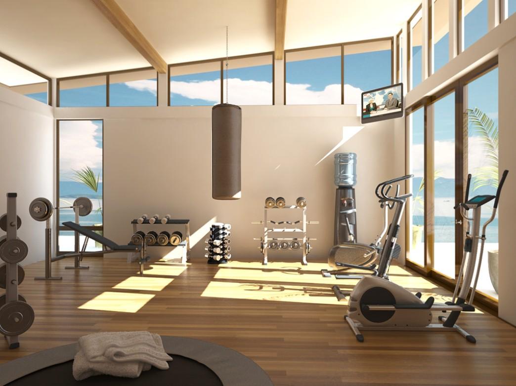 Интерьер домашнего спортзала в своем доме