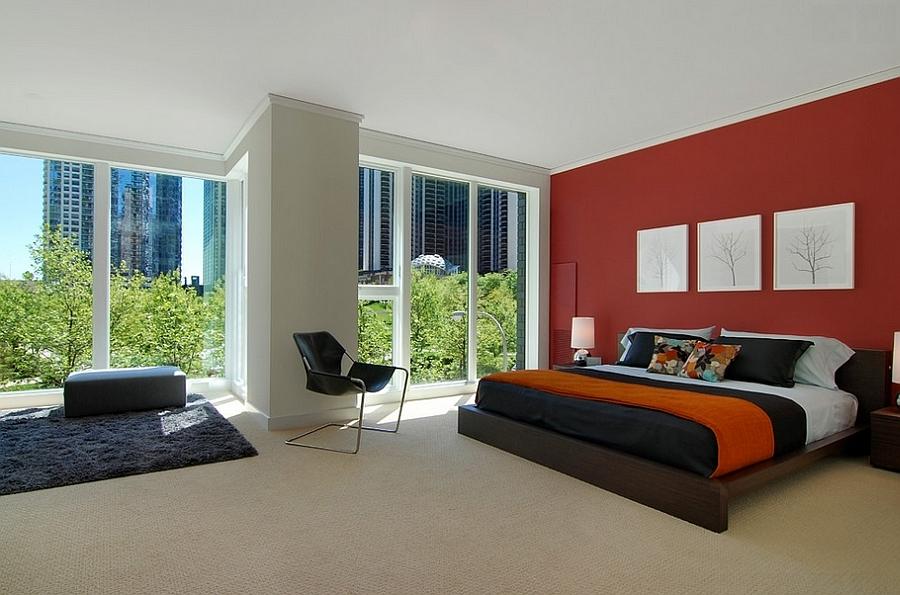 23 bedrooms in red tones