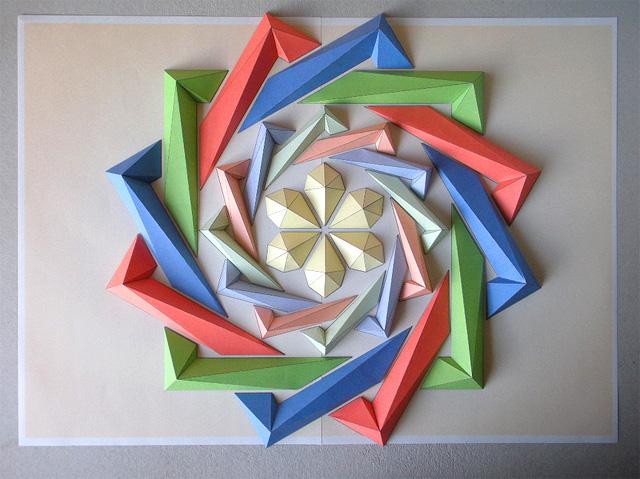 Оригами объемная композиция