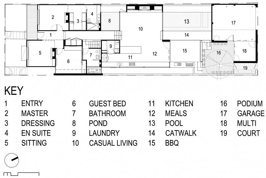 Детальная планировка особняка внутренней части