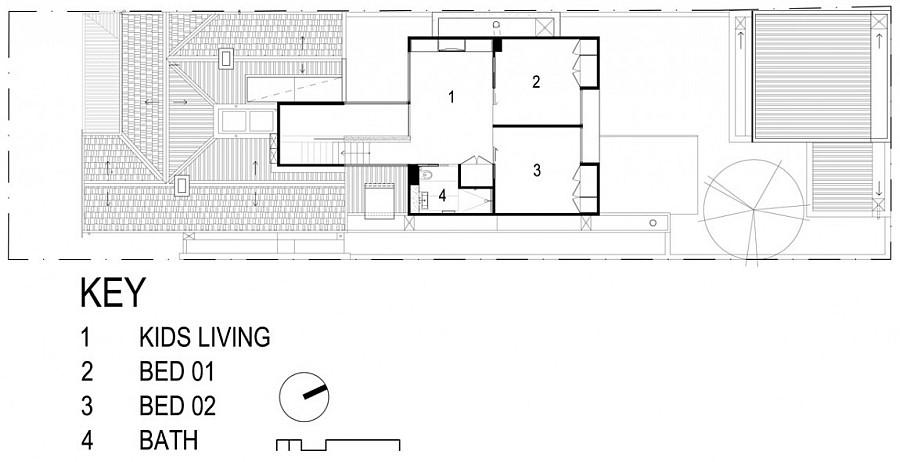 Детальный эскиз комнат особняка