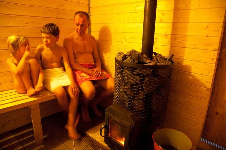 Мужской, семейный коллектив в бане