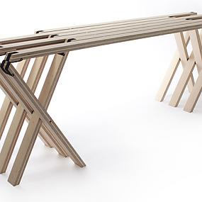 folding bench in modern style-01