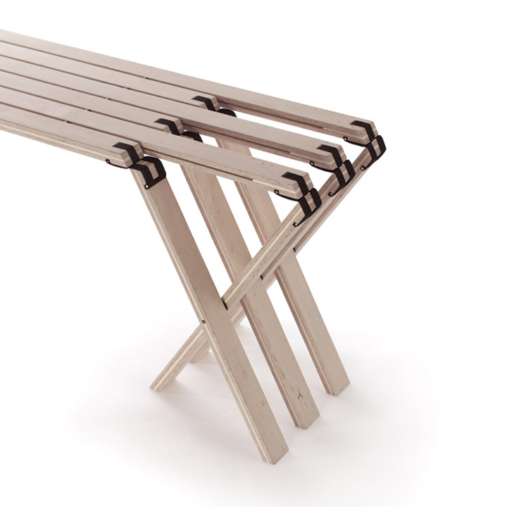 folding bench in modern style-02