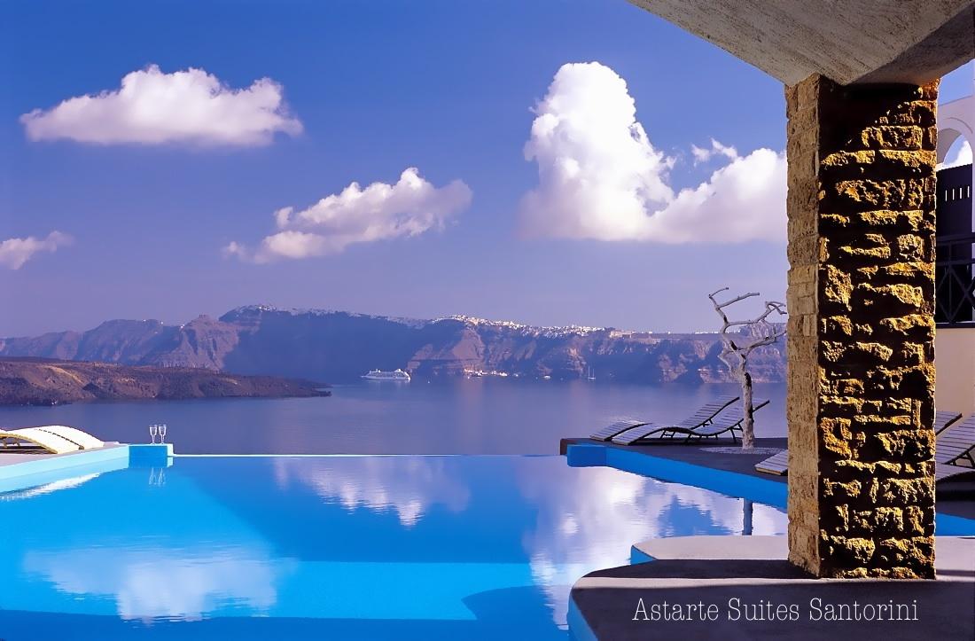Красивый пейзаж отеля Astarte Suites