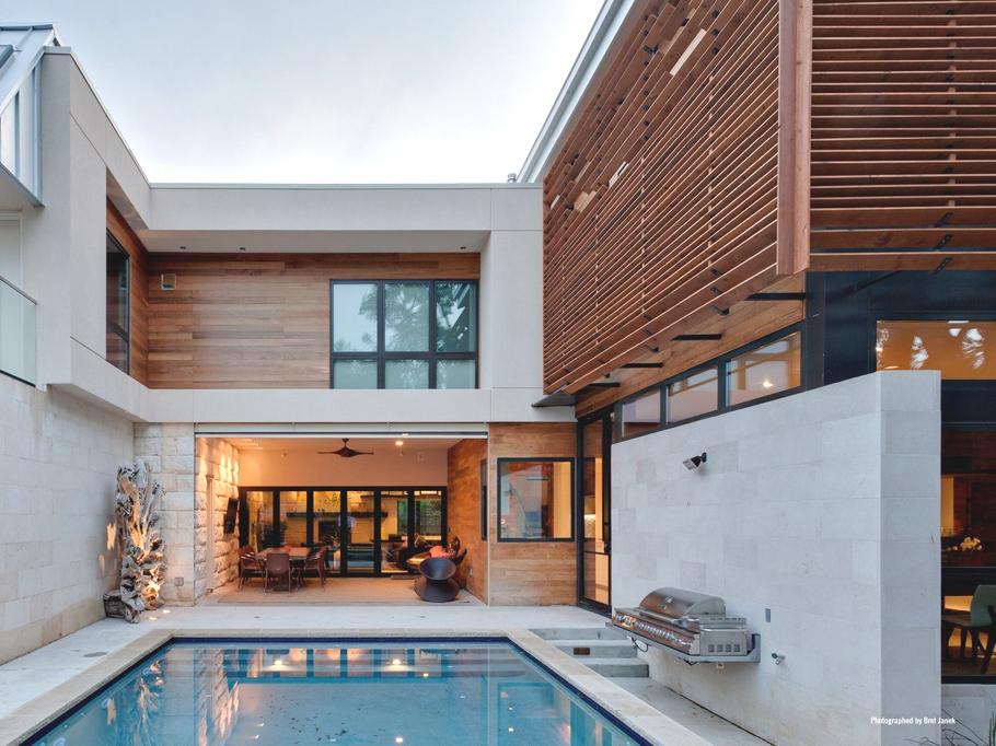Архитектура в гармонии с природой: стильный особняк в Техасе