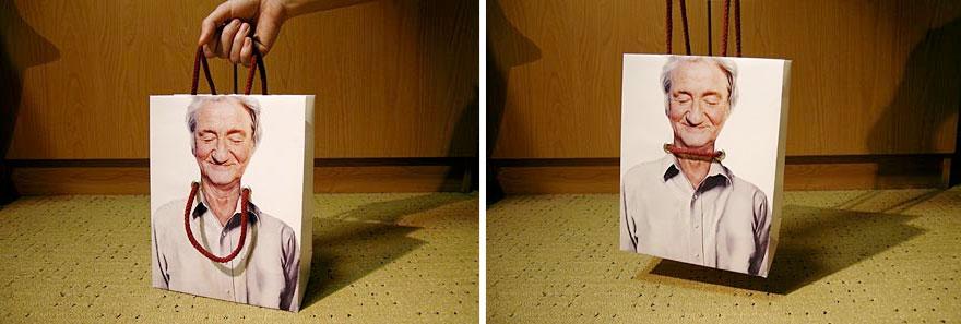 Пакет с изображением мужчины с петлей