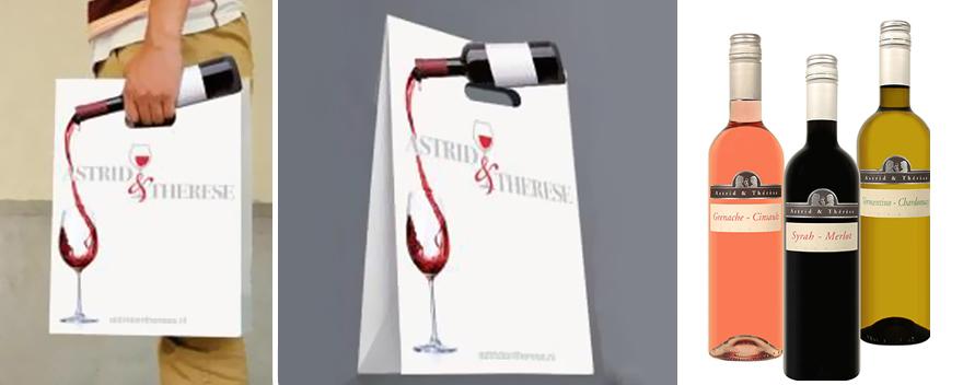 Пакет с изображением вина