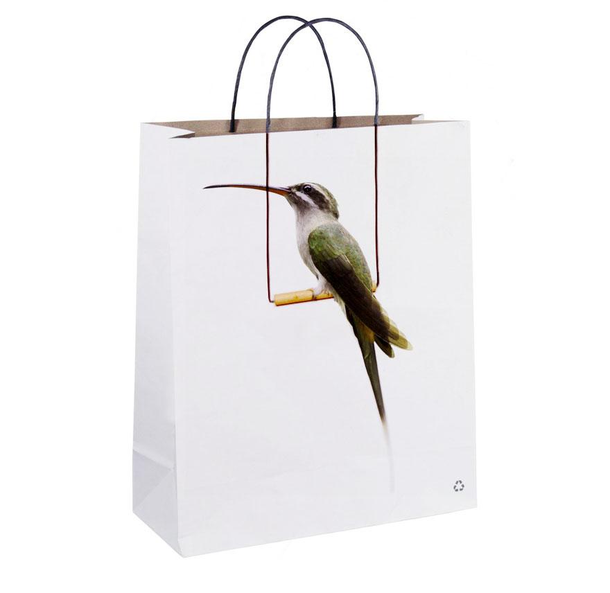 Пакет с изображением птицы