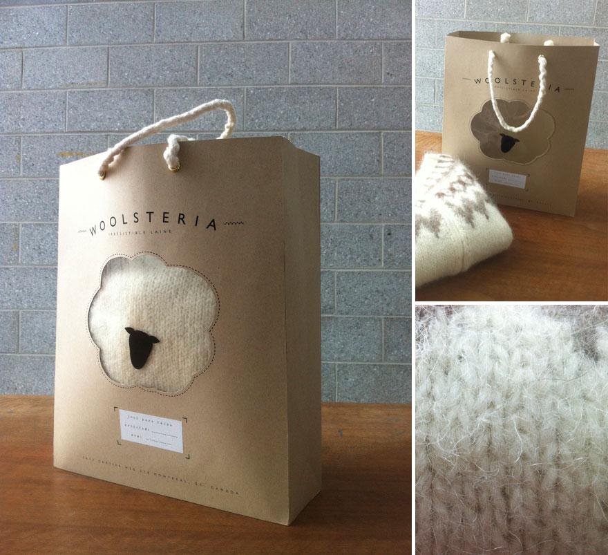 Пакет с изображением овечьей шерсти