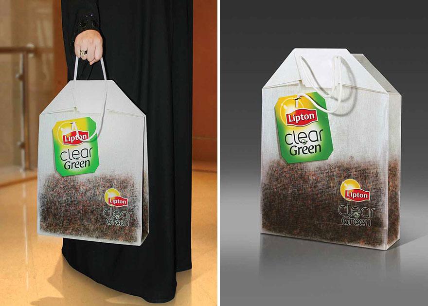 Пакет с изображением чая в пакетике