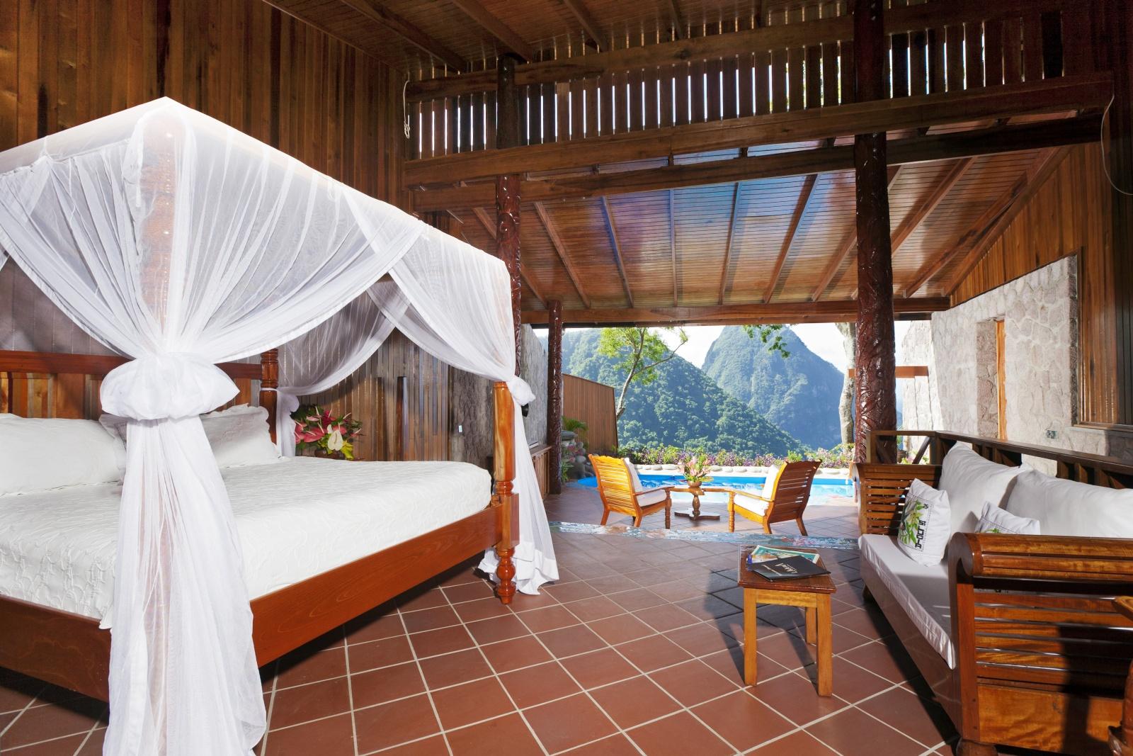 Спальня уникального курорта Ladera