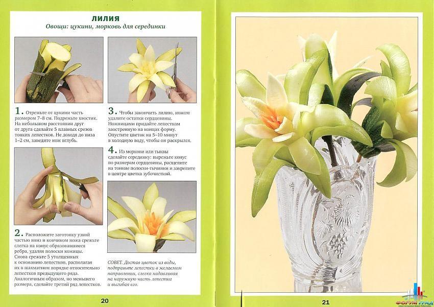 поделки из цветов и овощей фото.