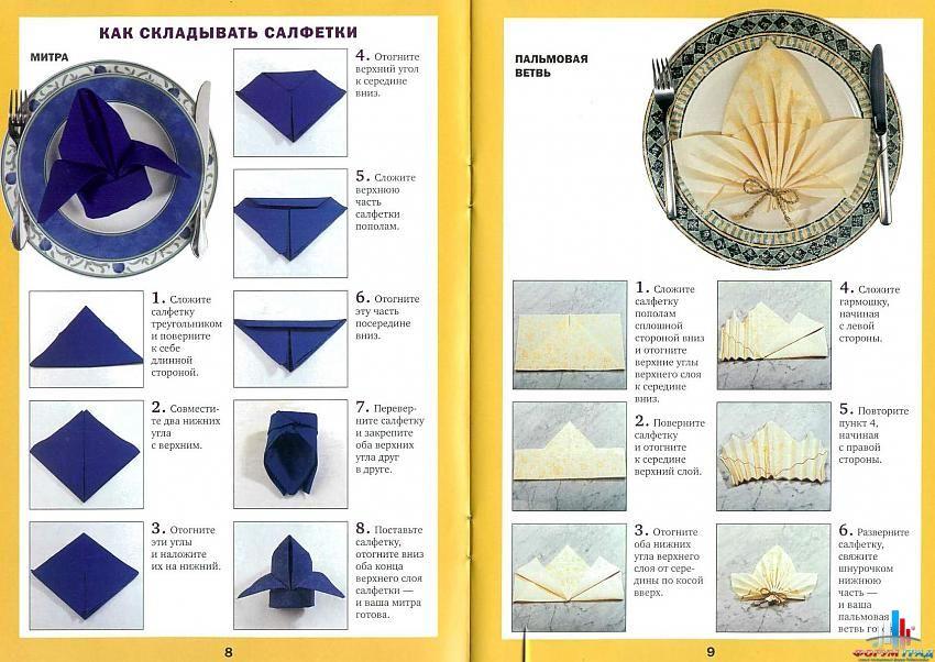 Украшение для салфетки и схемы