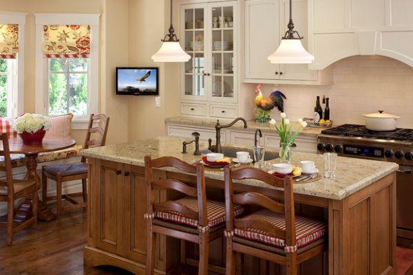 Дизайн кухни-гостиной в коттедже фото