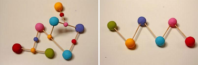 Как сделать молекулы из пластилина 335
