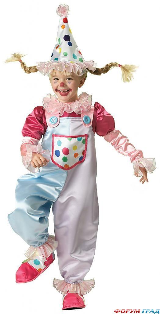 Как сшить костюм клоуна для девочки