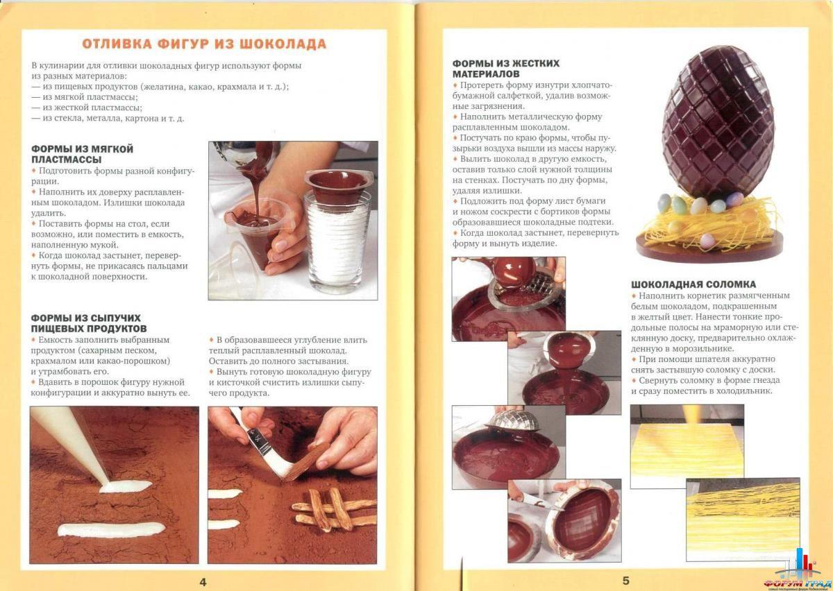 Как сделать фигурки из шоколада пошагово