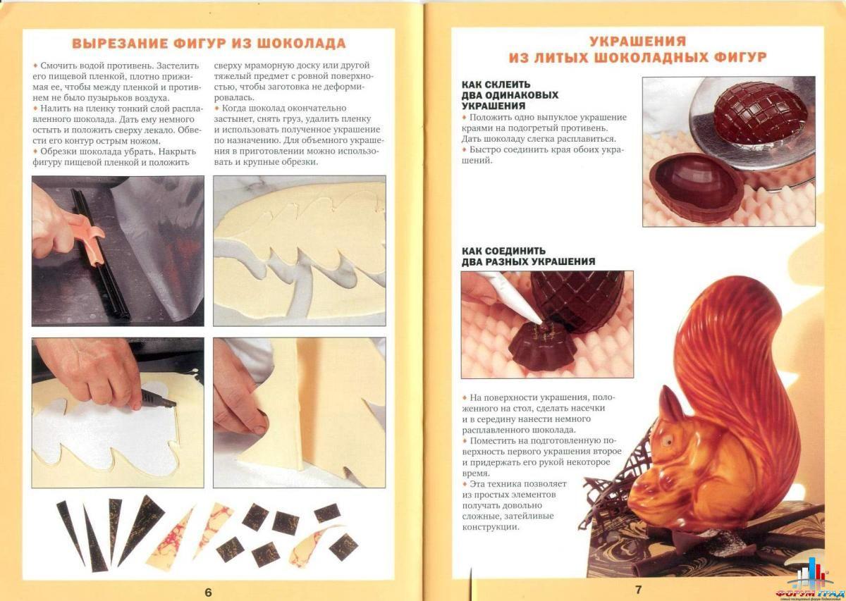 Как сделать из шоколадки