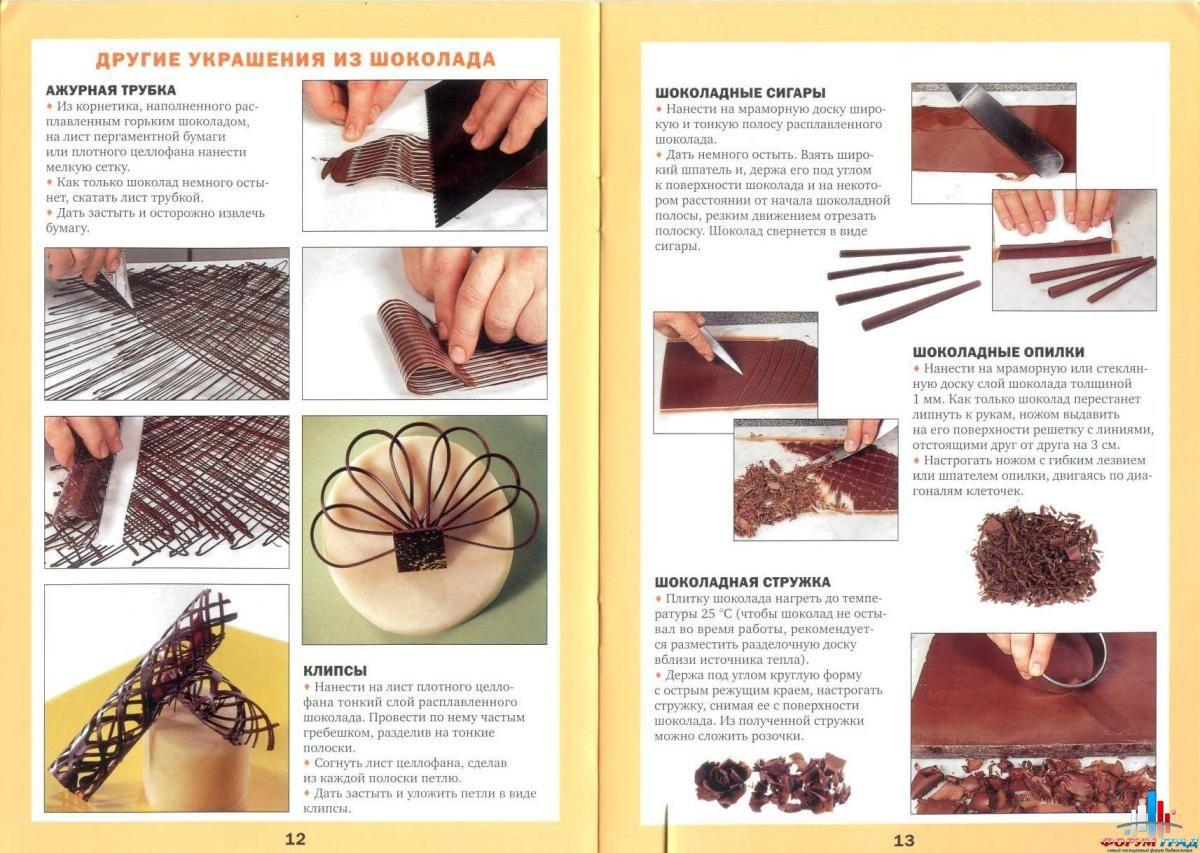 Шоколадные украшения для тортов своими руками