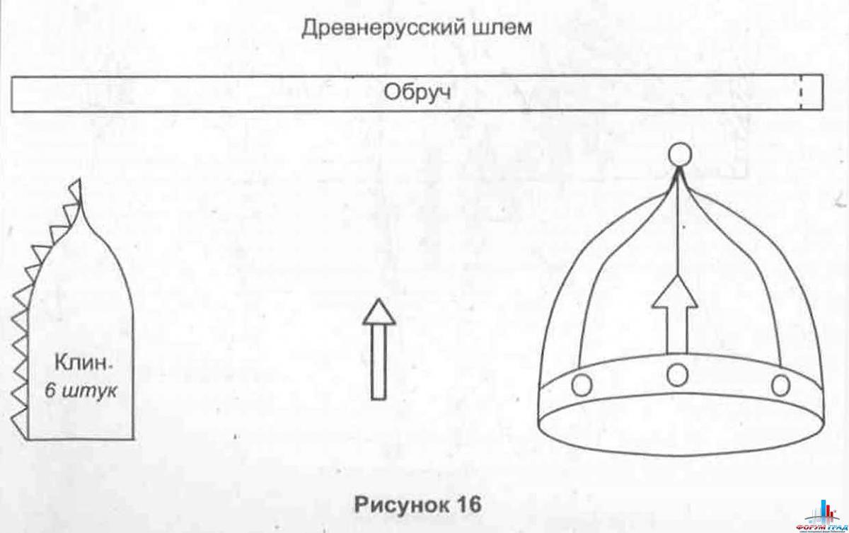 Шлем рыцаря своими руками схема