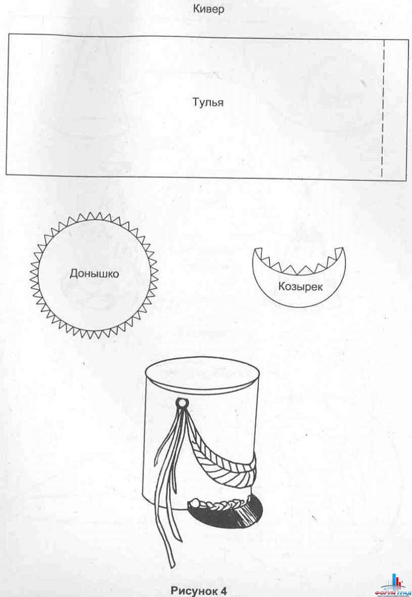 Как сделать шапку гусара из картона