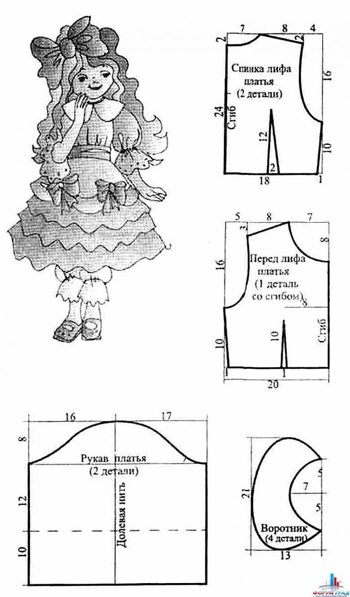 Новогодние костюмы для девочек: выкройки и мастер-классы