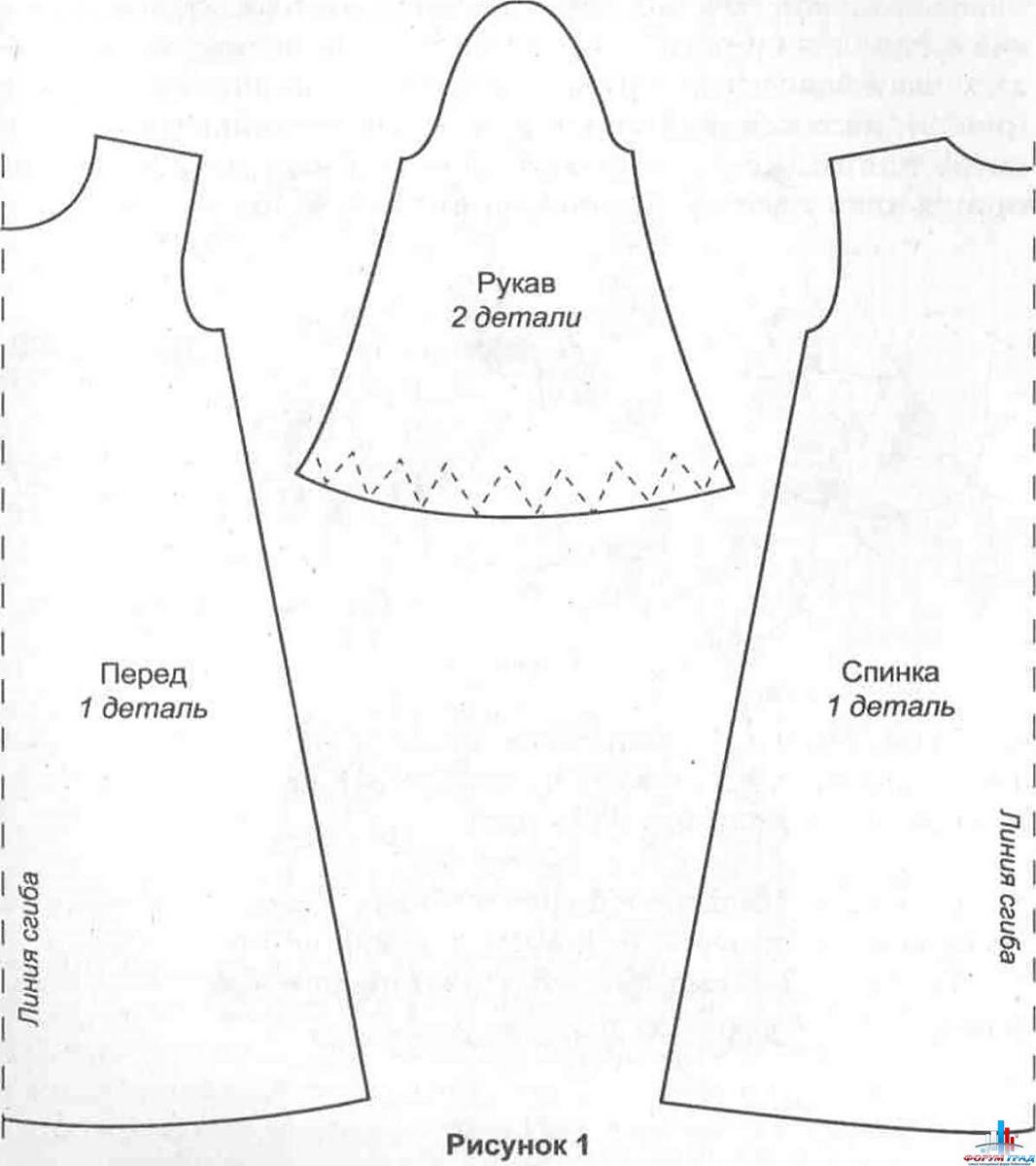 Выкройка крестильная рубашка для мальчика
