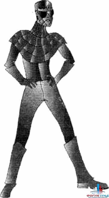 Костюм: Человек-Паук облачен в обтягивающий, как.