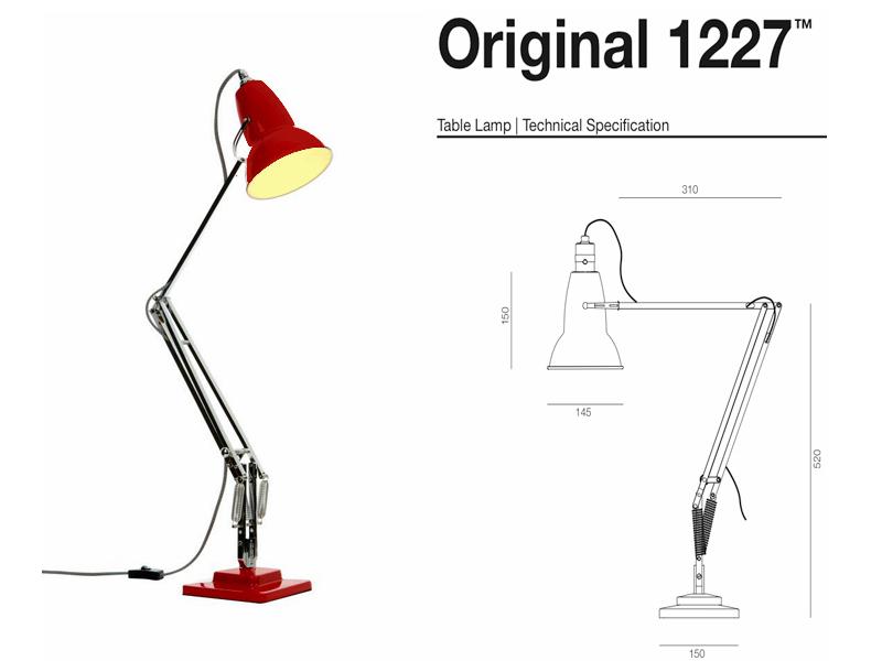 Лампа Anglepoise и схема модели 1227
