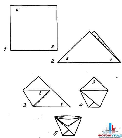 Как сделать кулёк из бумаги для семечек