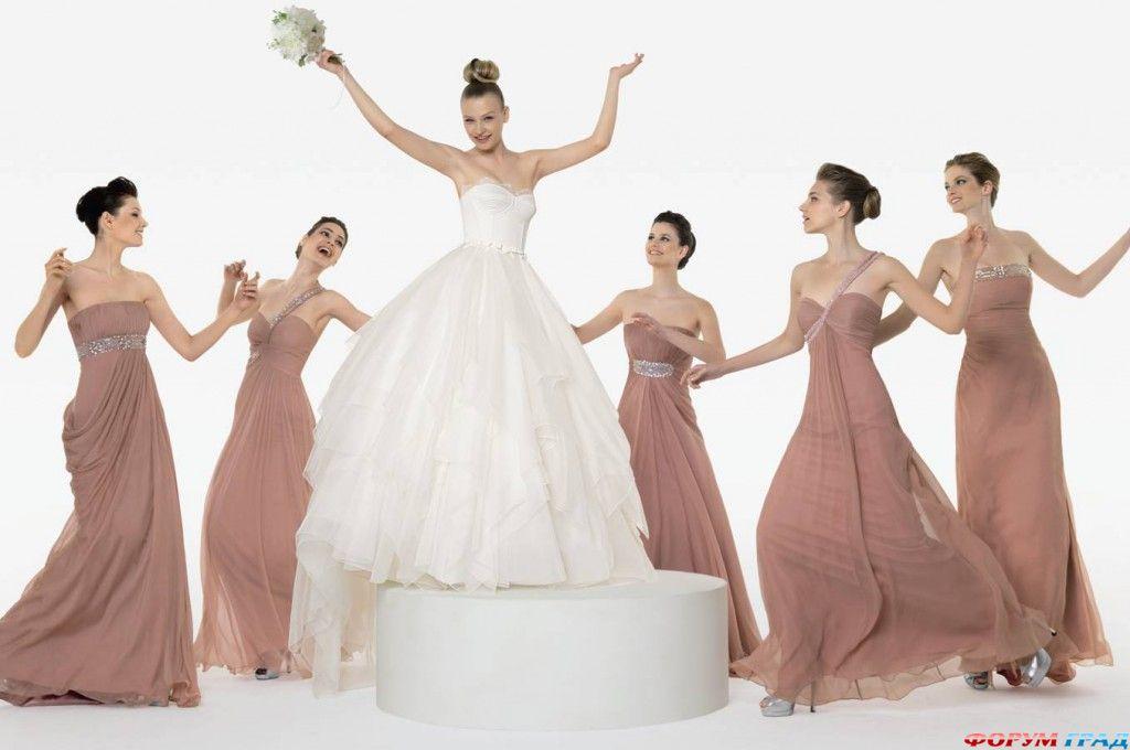 Фасоны платьев подружек невесты фото 1