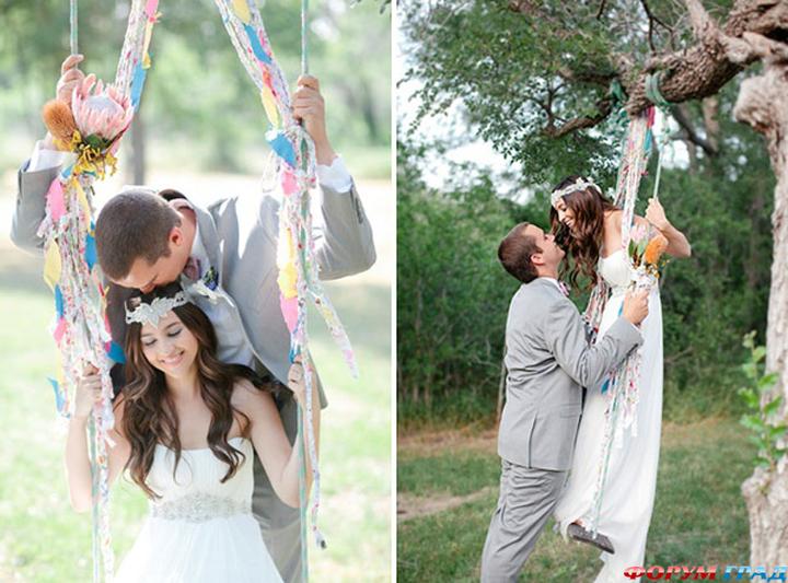 Свадебные качели для фотосессии своими руками