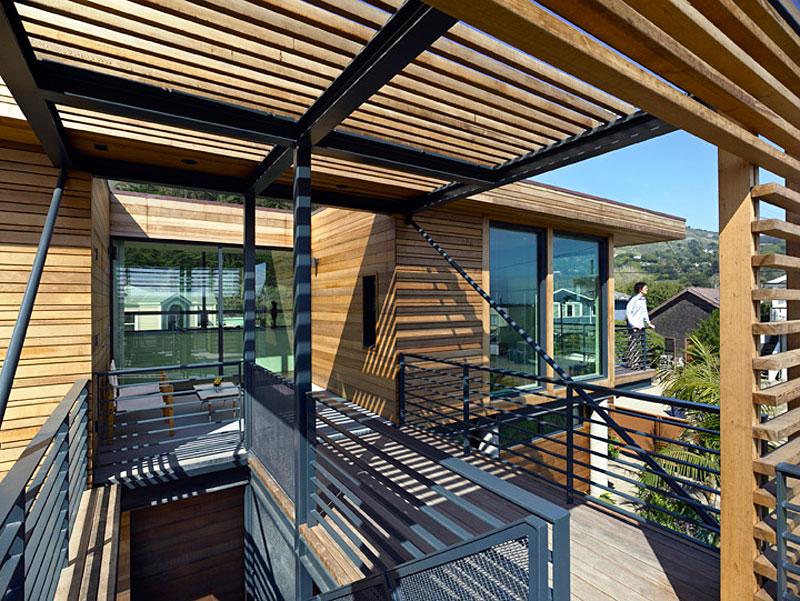 Красивые дома в Америке: фото лёгкого коттеджа из металла и дерева