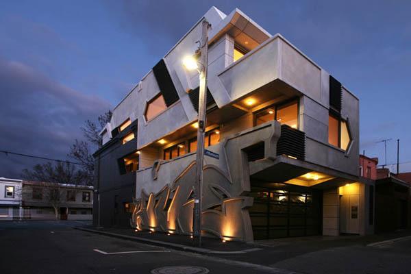 Ультрасовременный дом необычной конфигурации в Австралии