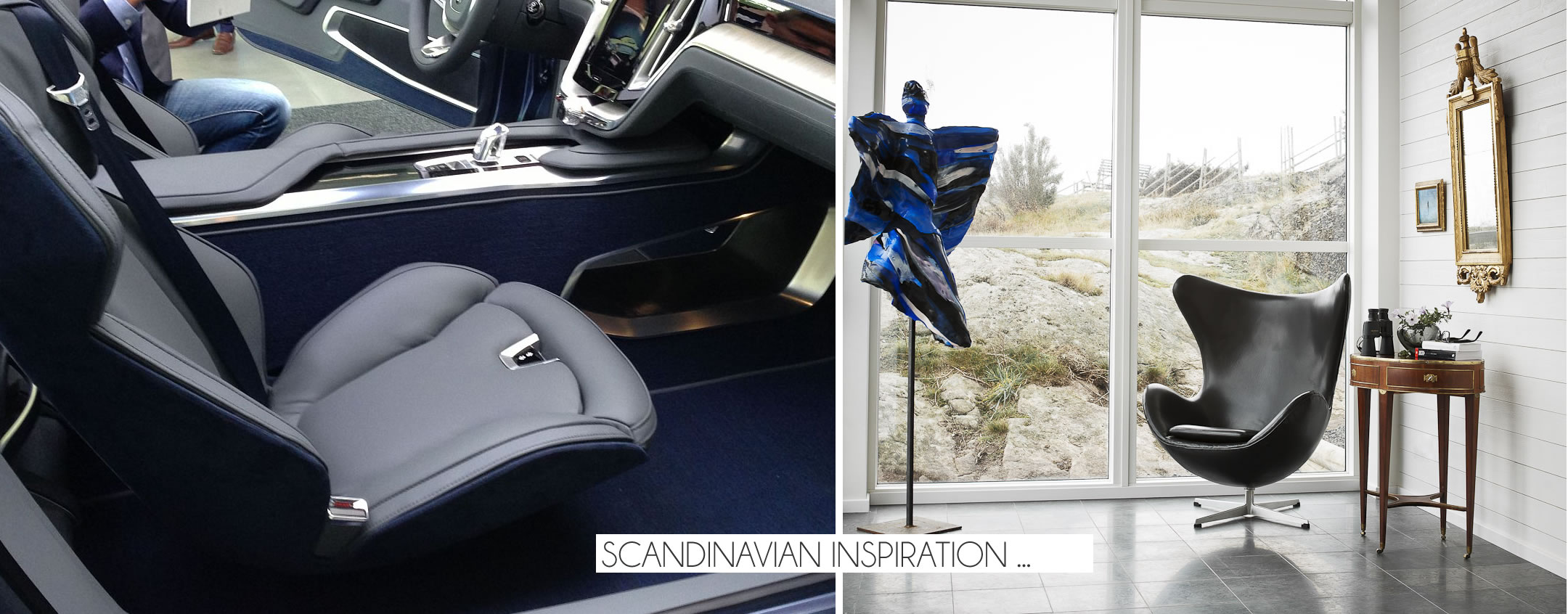 Коллаж фотографий: водительское кресло салона авто и домашнее кресло в интерьере гостиной