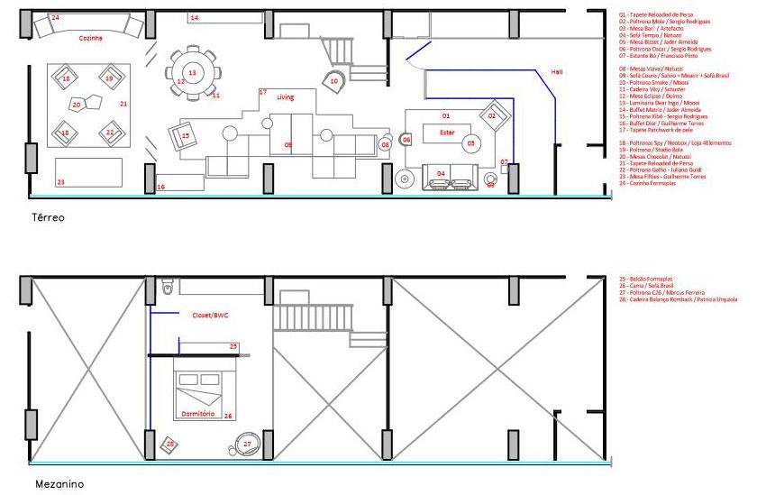 План-схема частного дома Loft