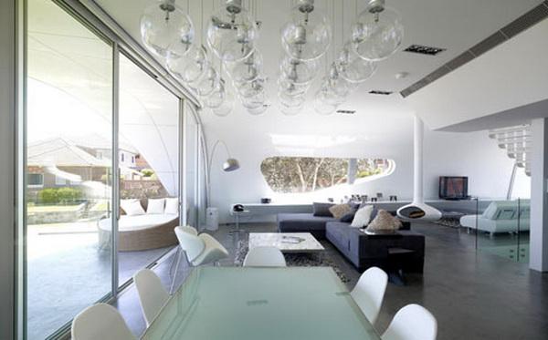 Концептуальный загородный дом без внутренних стен