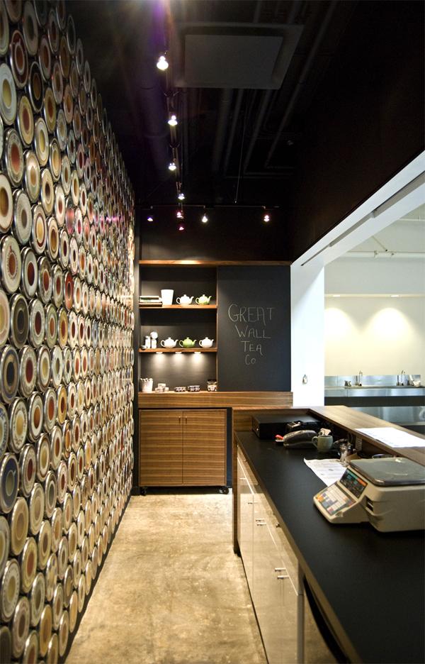 Дизайн интерьера кафе-магазина The Great Wall Tea Co.
